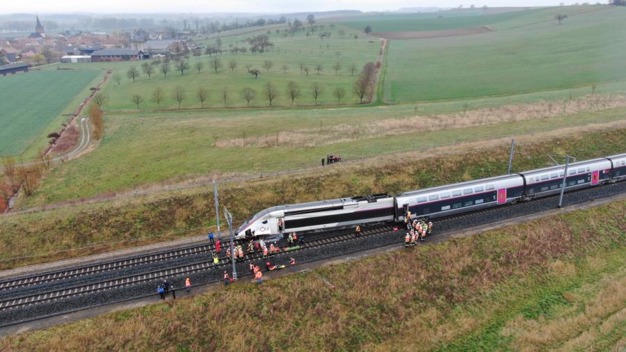 French TGV train derails on Strasbourg-Paris line, 21 hurt