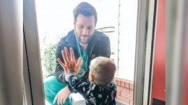 Doctor in Viral Photo With Son Behind Glass Loses Home to Tornado