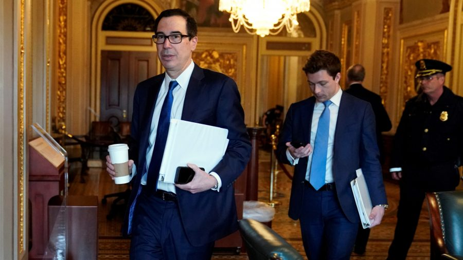 Mnuchin Hopeful $2 Trillion CCP Virus Aid Package Can Be Closed Today