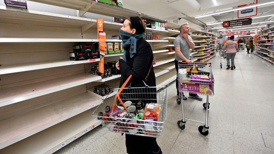 UK Supermarkets to Cut Product Ranges Amid CCP Virus Pandemic