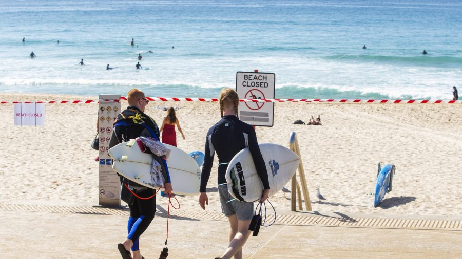 Australian Beaches Close in NSW as People Ignore Social Distancing Rules