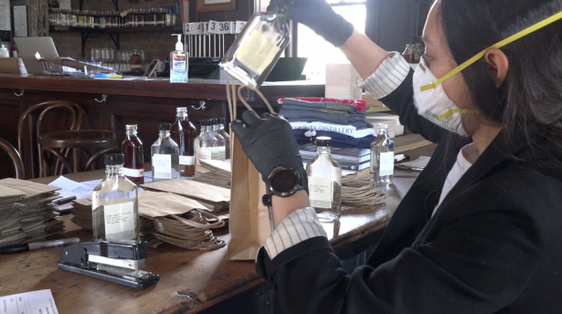 Whiskey Makers Turn to Hand Sanitizer in Pandemic