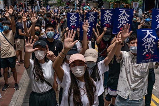 A protest against Beijing's proposed National Security Law