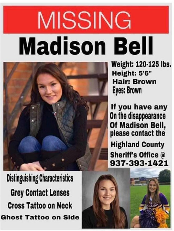Missing Ohio teen Madison Bell