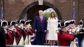 Trump Marks Memorial Day at Arlington Cemetery, Fort McHenry