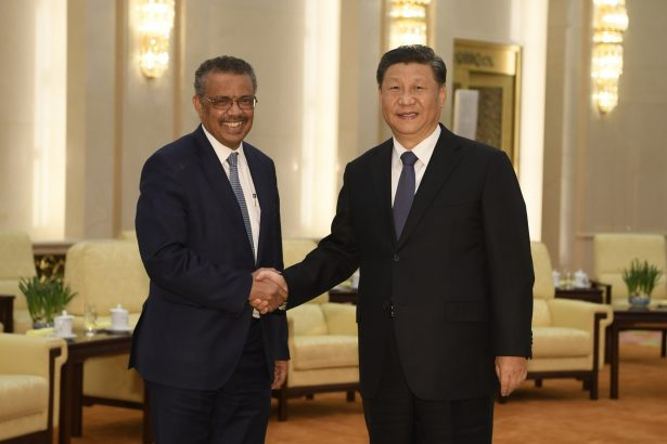 Director General of WHO and Xi Jinping