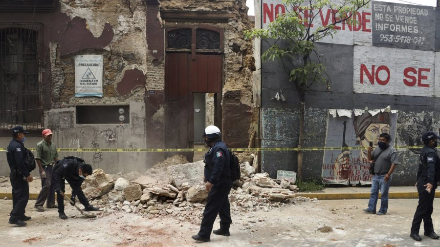 Two people dead after southern, central Mexico hit by big quake