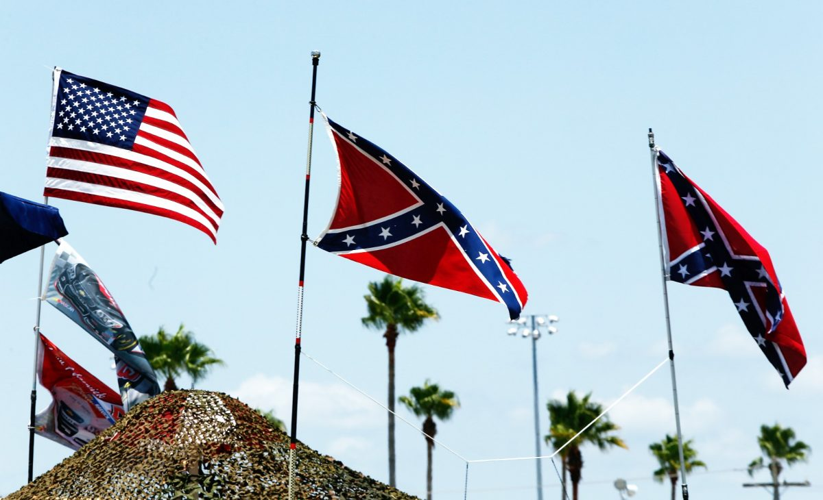 Confederate Flag Proudly Displayed By Southerners  Trump