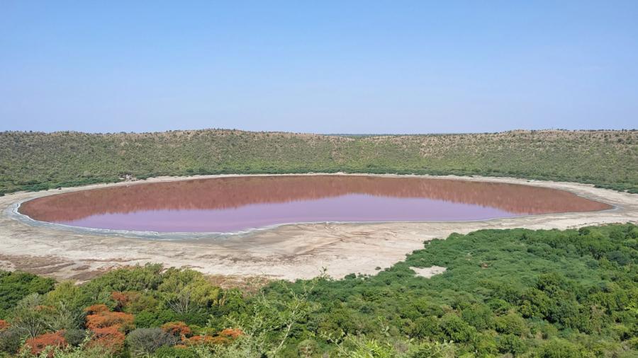 50,000-Year-Old Lake in India Turns Pink