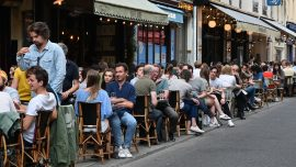 Parks and Cafes Reopen In France