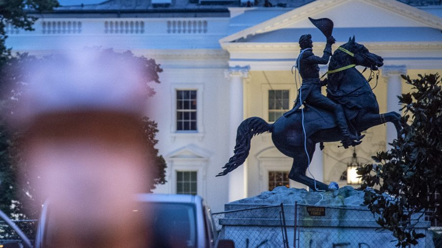4 Men Charged in Attack on Jackson Statue Near White House