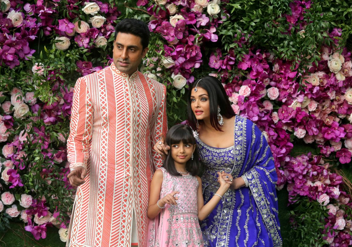 Abhishek Bachchan, wife and daughter