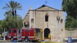 Catholic Churches Burned, Vandalized Over the Weekend
