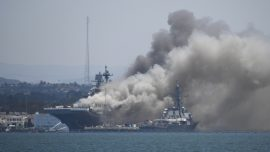 11 Injured, Explosion Reported During USS Bonhomme Richard Fire