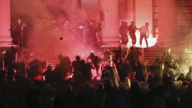 Serbia Police Detain 71 After 4th Night of Virus Protests