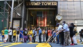 Black Lives Matter Mural Painted In Front of Trump Tower