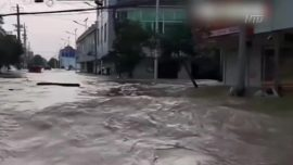 China Blasts Open Embankment, Releases Floodwater