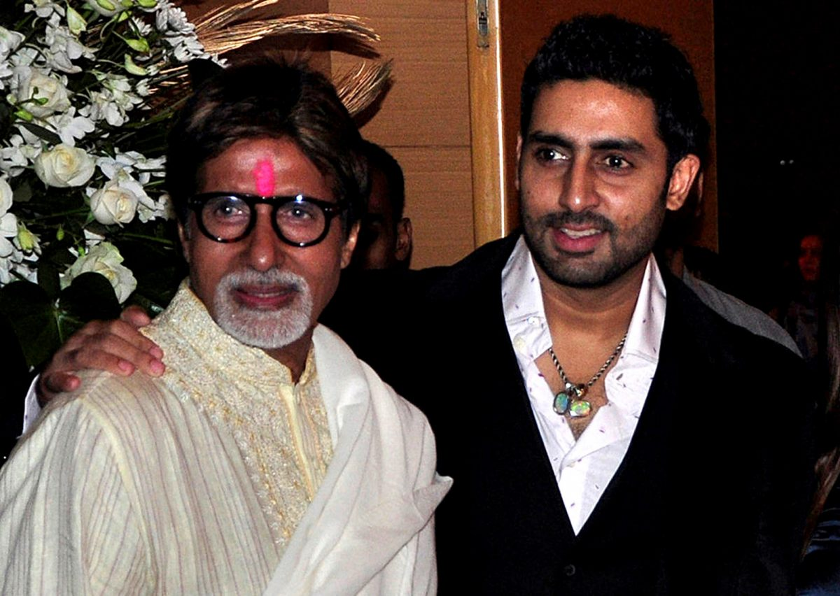 Amitabh Bachchan and son