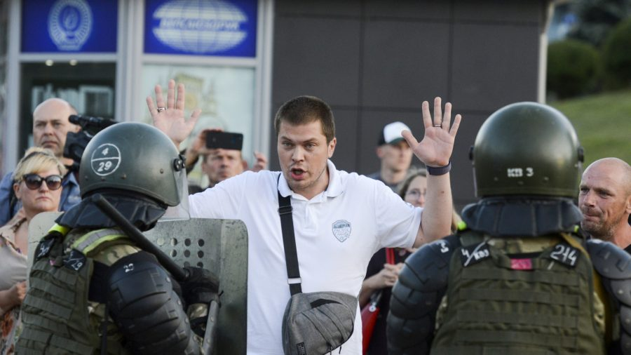 Belarus Says Police Fired Live Rounds at Protesters as EU Weighs Sanctions