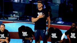 Miami Heat's Meyers Leonard Stands for Anthem, Explains Why