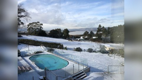 A Rare Winter Wonderland Blanketed Tasmania, and Residents Couldn't Get Enough