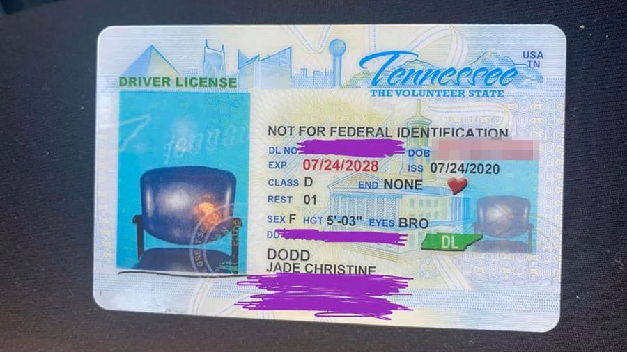 Woman Receives New Drivers License With Picture of Empty Chair