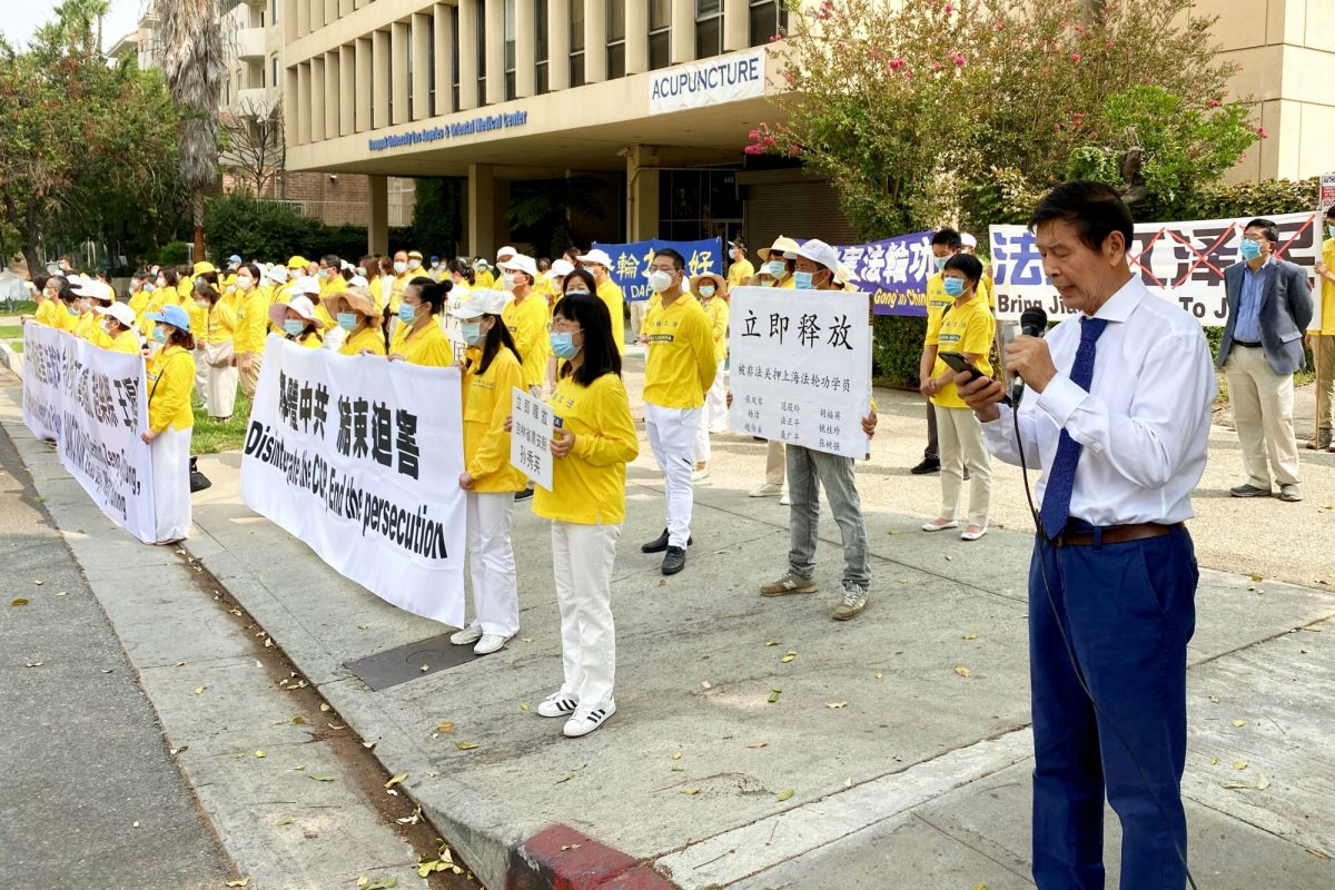 Practitioners of the spiritual discipline Falun Gong