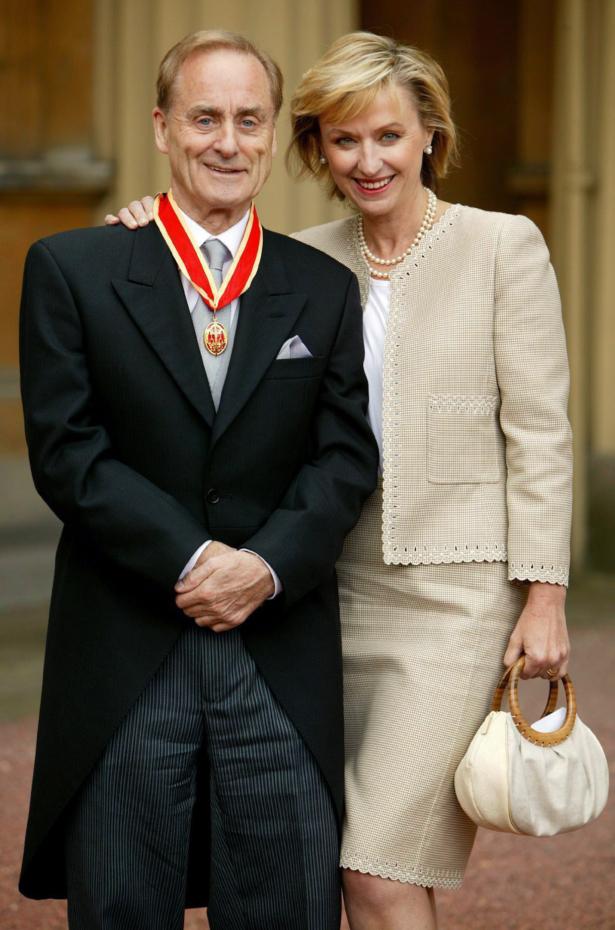 Journalist Harold Evans with wife