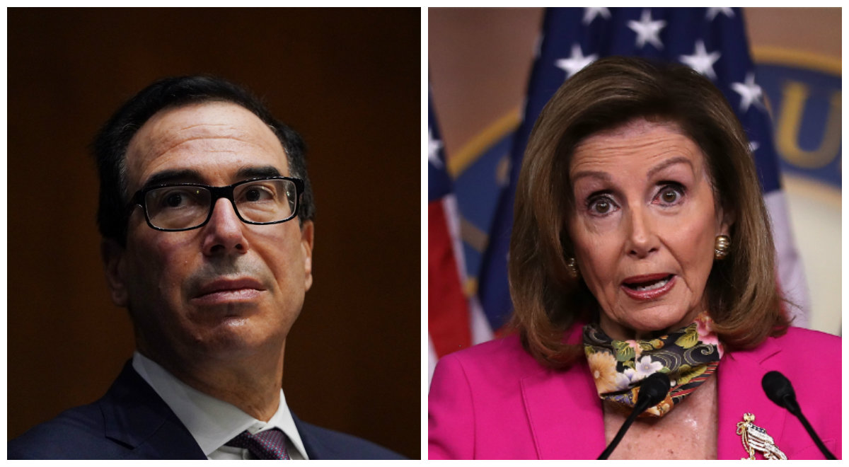 Steven Mnuchin and Nancy Pelosi.'