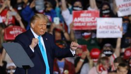 Trump Defends Having Large Rallies Amid COVID-19 Pandemic