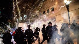 14 Arrested Amid Rioting in Portland; Crowd Dispersed in Seattle