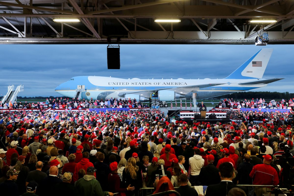 Air Force One is seen