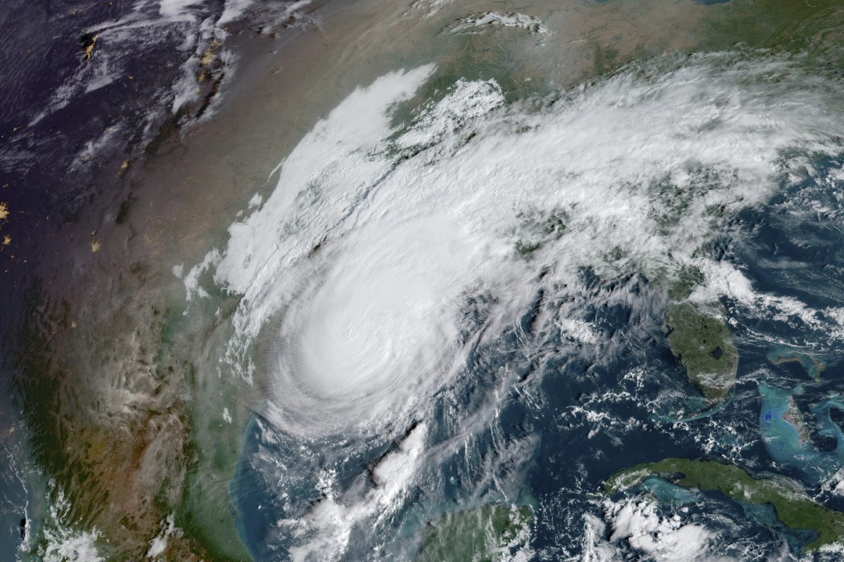 Satellite image of Hurricane Delta