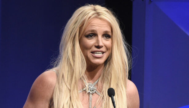 Britney Spears accepts the Vanguard award