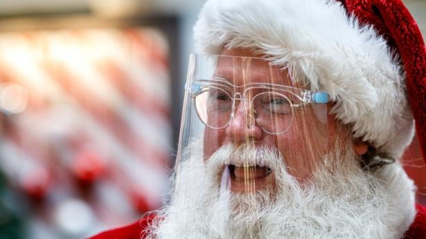 A man dressed as Santa Claus