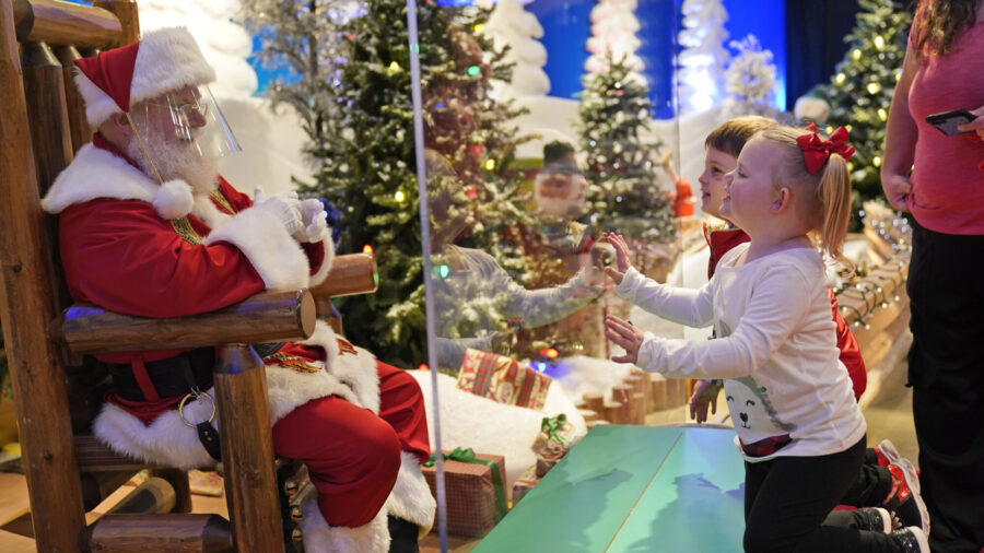 Here Comes Santa Claus—With Masks and Plexiglass