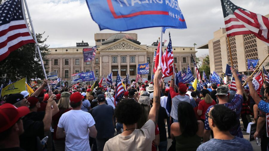Arizonians Call for Recount, Audit of Votes at State Capitol Rally