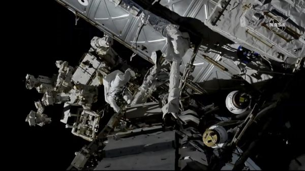 Canadian astronaut in space
