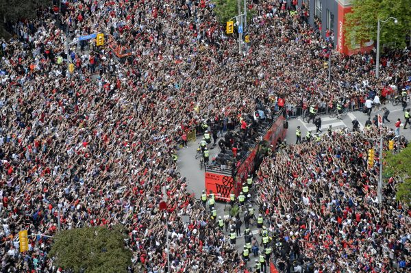 Raptors Parade Basketball