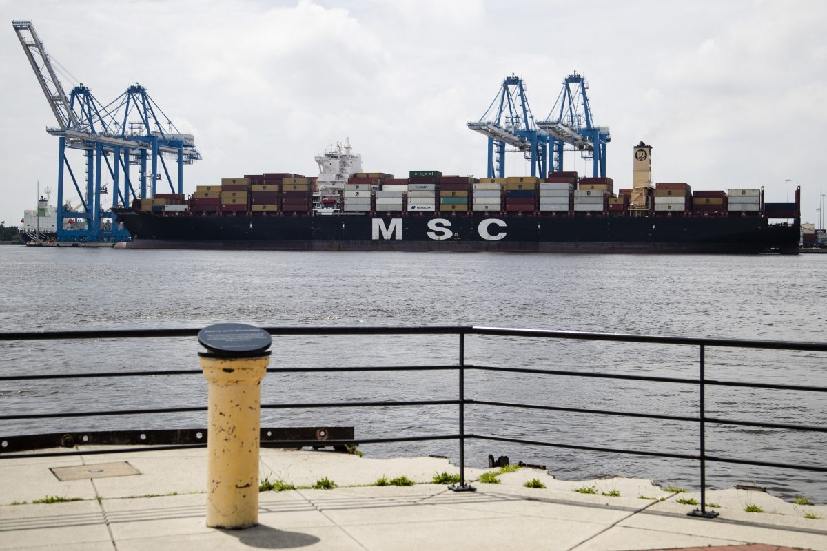The MSC Gayane container ship