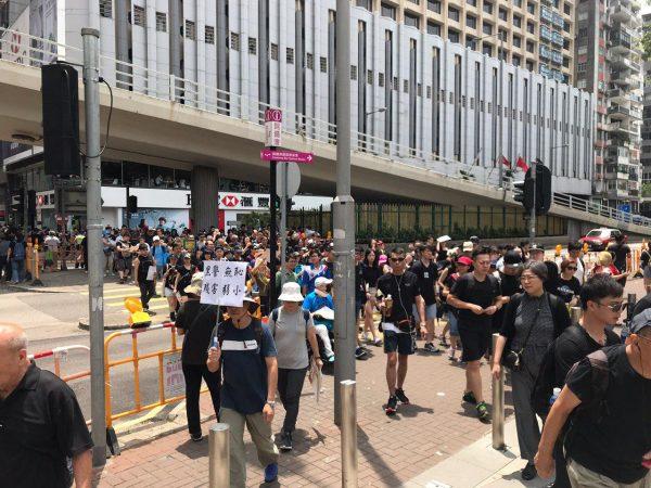 HK protesters arrive at Victoria Park