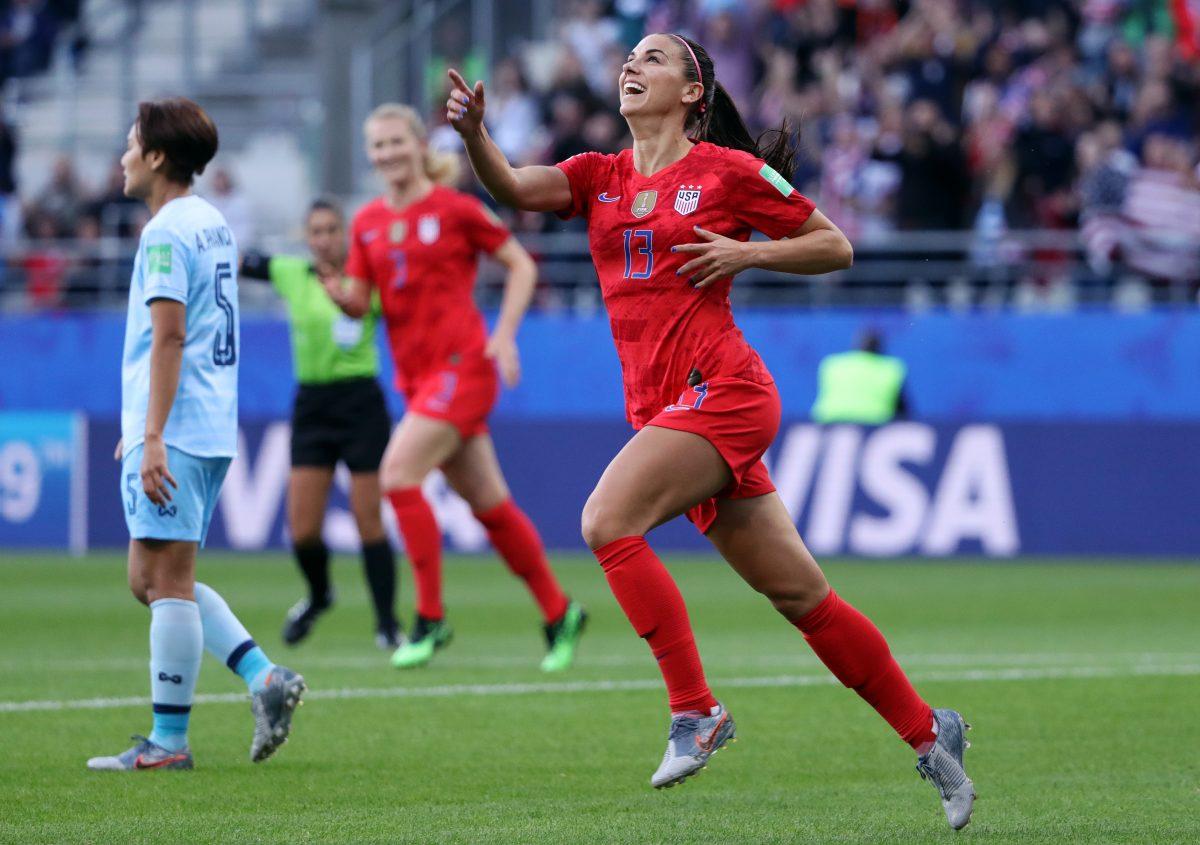 Alex Morgan of the USA celebrates