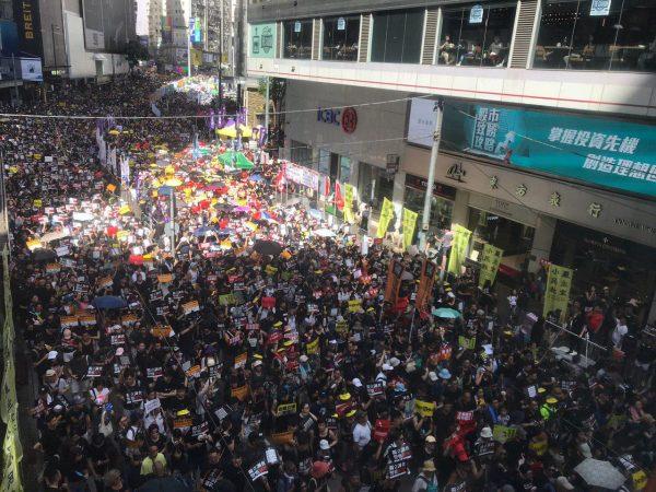Hong Kong march July 1