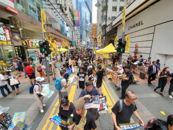 HK Protesters on the way to July 1 march
