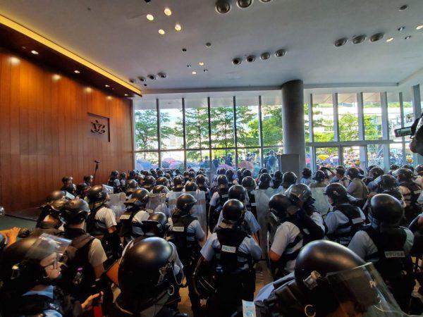 HK police on July 1