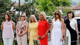 Melania Trump and G7 Spouses Visit French Village Famous for Red Peppers