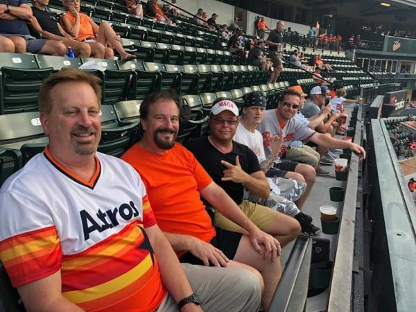 Trump supporters at Baltimore Orioles game