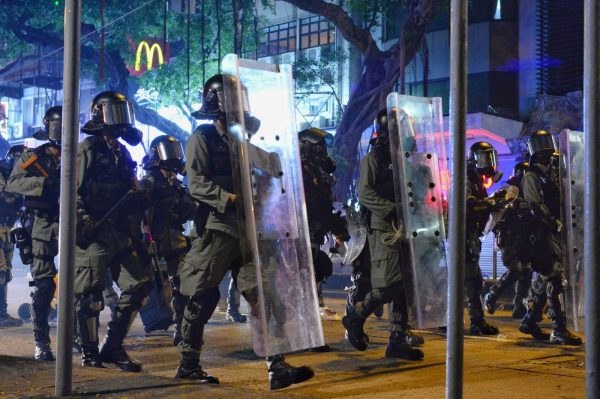 Hong Kong police in riot gear