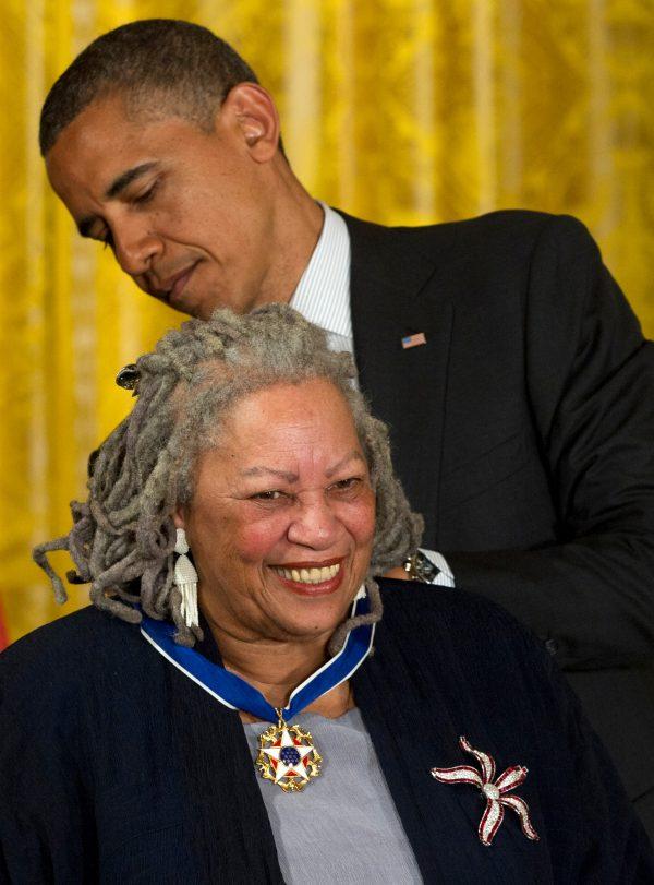 President Barack Obama awards author Toni Morrison with a Medal of Freedom