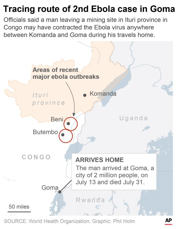 the last known stops of the man who contracted Ebola